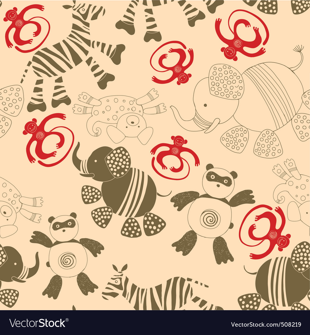 Animals pattern vector | Price: 1 Credit (USD $1)