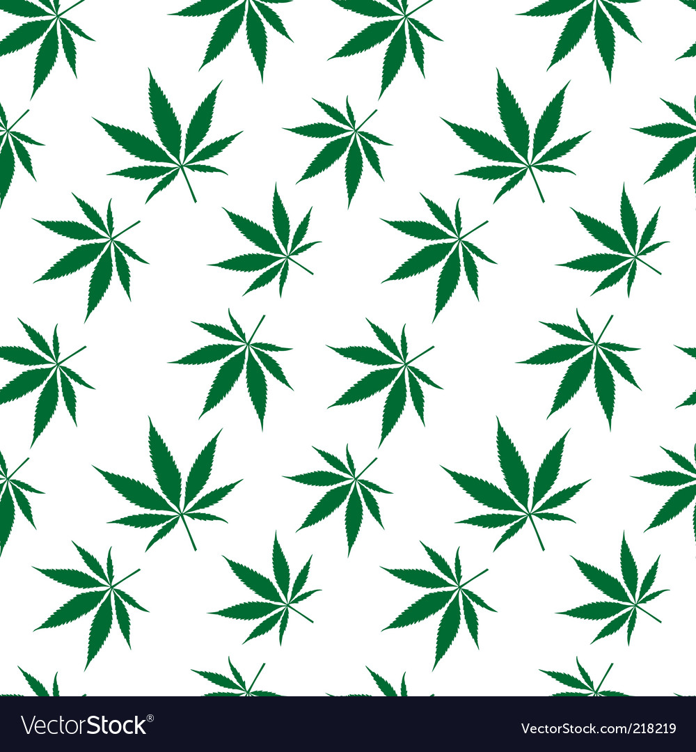 Cannabis seamless pattern vector | Price: 1 Credit (USD $1)