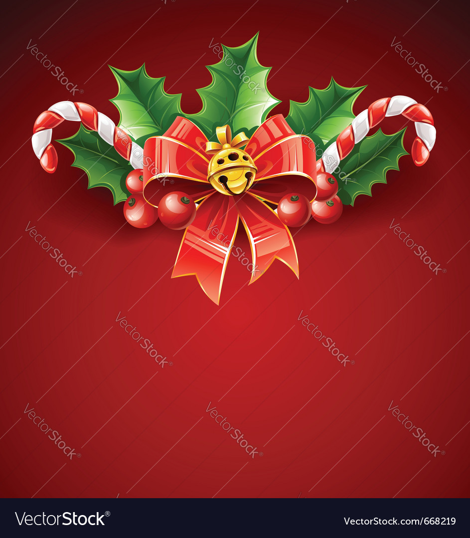 Christmas decoration of red vector | Price: 3 Credit (USD $3)