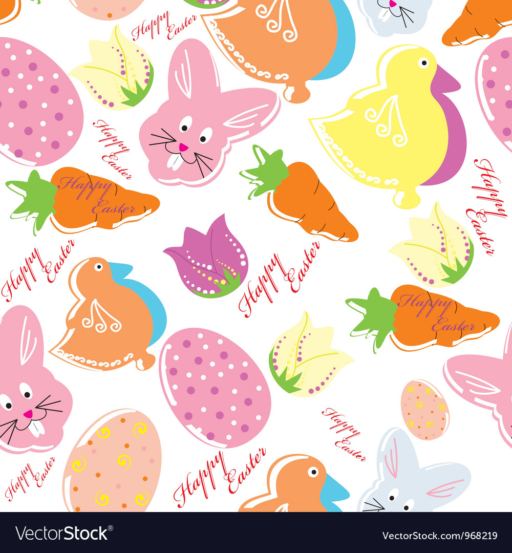 Colorful easter seamless pattern background vector | Price: 1 Credit (USD $1)