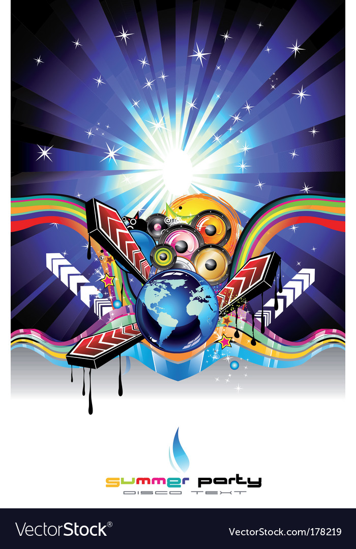 Discotheque dj event flyer vector | Price: 3 Credit (USD $3)
