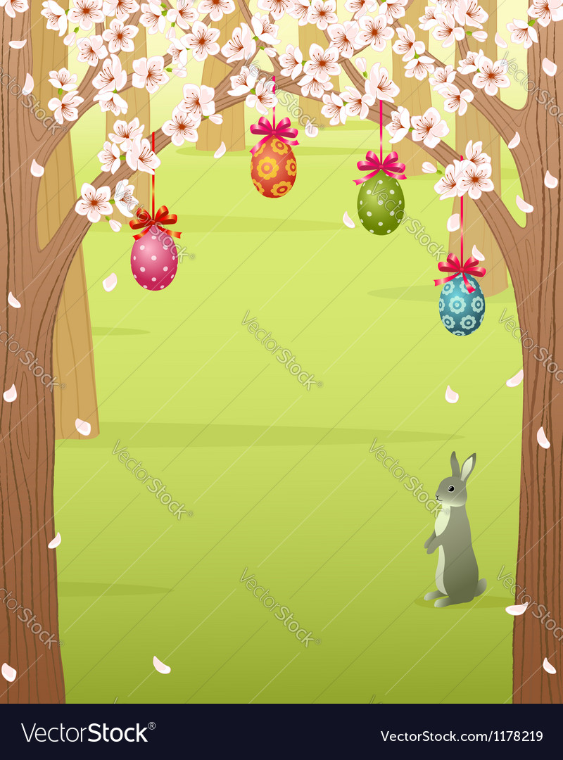 Easter forest vector | Price: 1 Credit (USD $1)