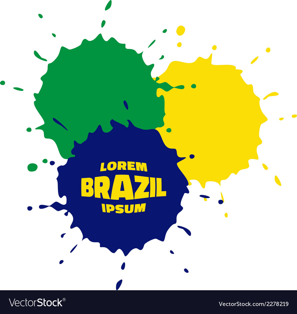 Grunge spots using brazil flag colors vector | Price: 1 Credit (USD $1)