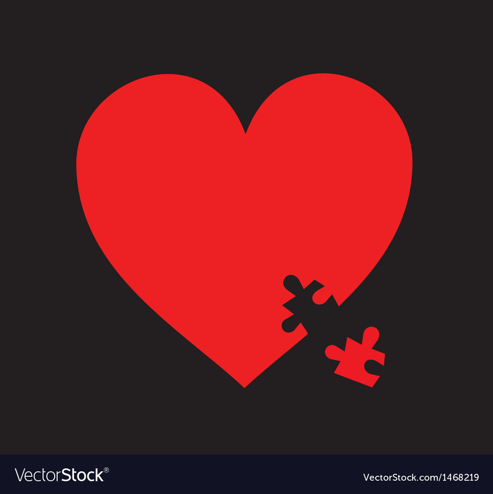 Heart puzzle concept vector | Price: 1 Credit (USD $1)