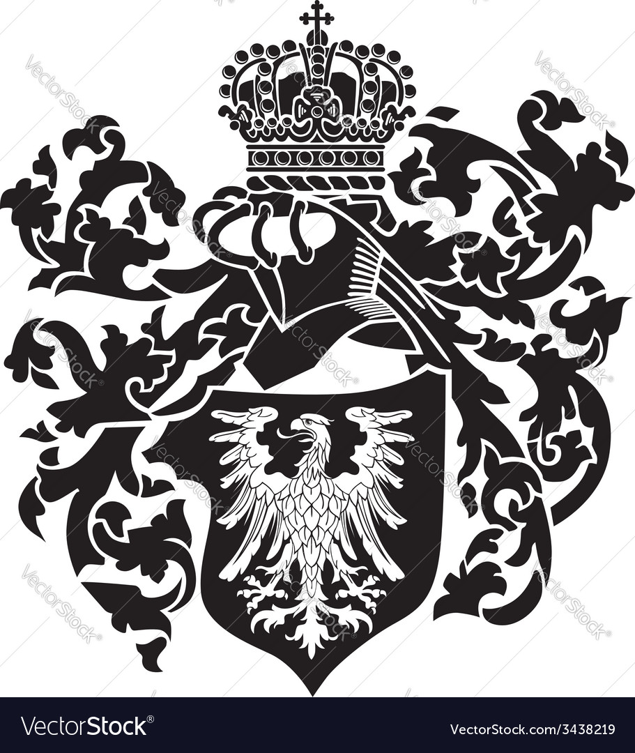 Heraldic silhouette no22 vector | Price: 1 Credit (USD $1)