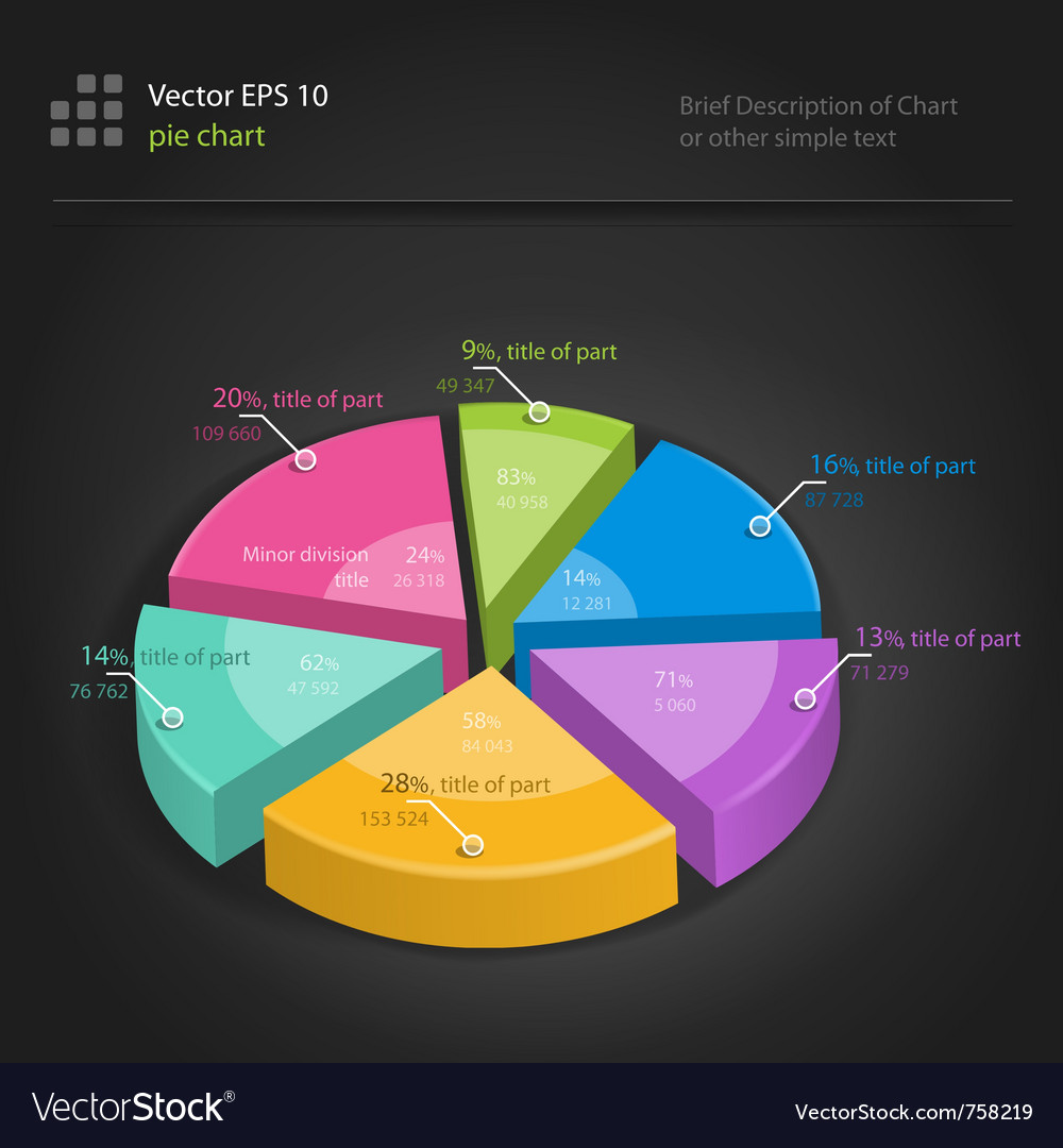 Infographics pie chart vector | Price: 1 Credit (USD $1)