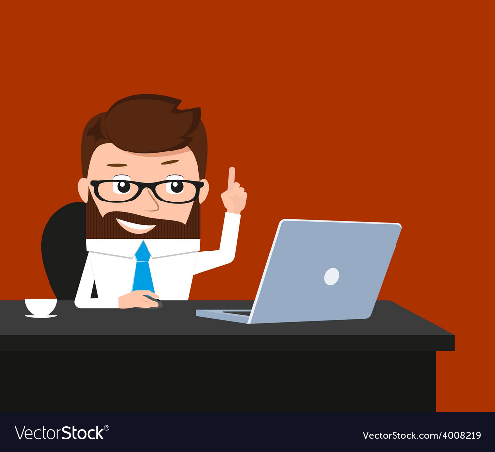 Lucky businessman vector | Price: 1 Credit (USD $1)