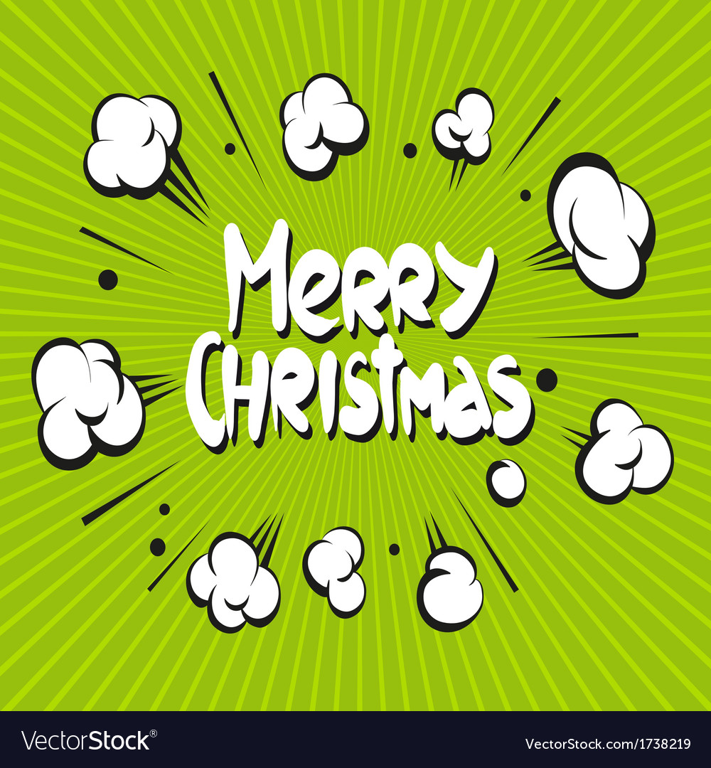 Merry christmas boom explosion vector | Price: 1 Credit (USD $1)