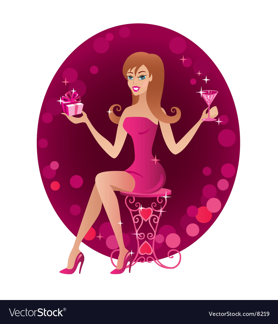 Party girl vector | Price: 5 Credit (USD $5)