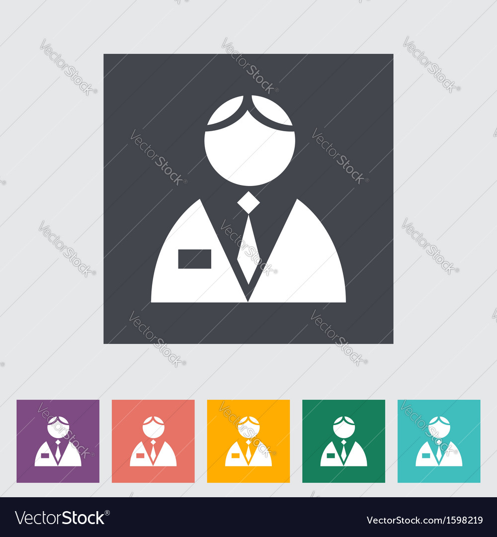 Person single flat icon vector | Price: 1 Credit (USD $1)