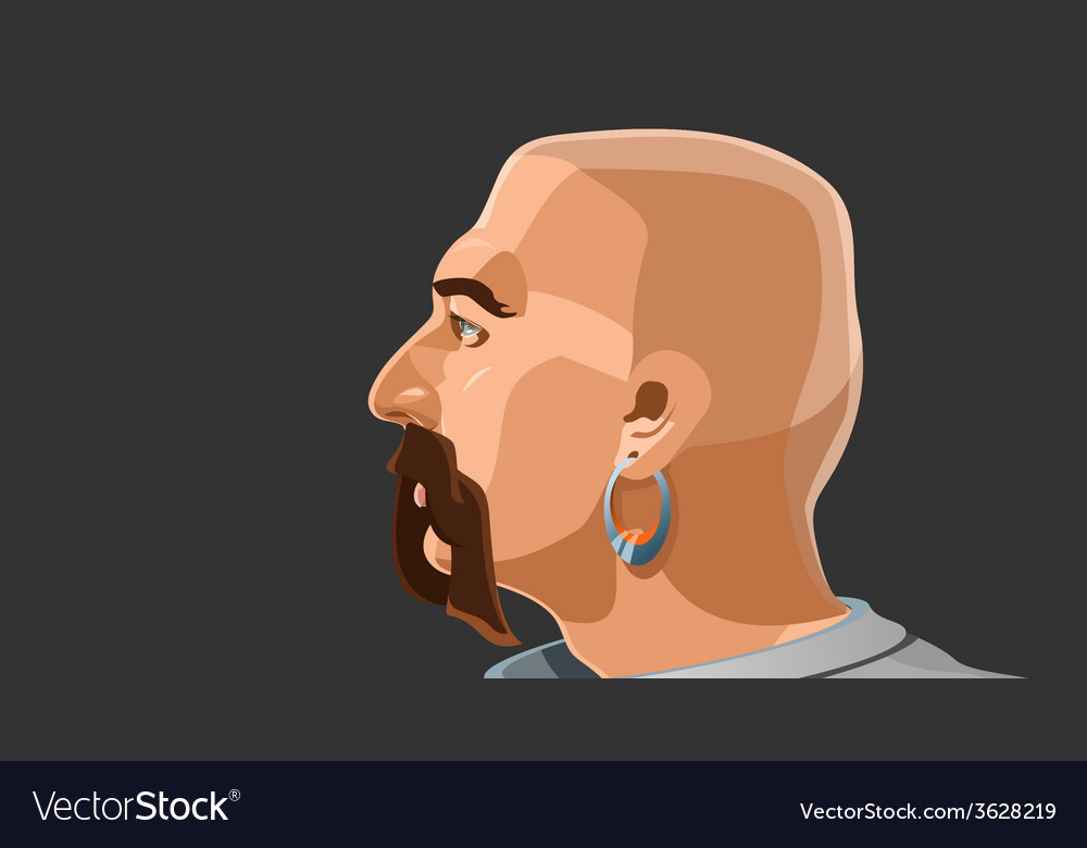 Portrait of a man vector | Price: 1 Credit (USD $1)