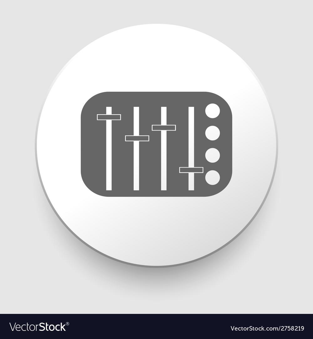Potentiometer slider knob equalizer vector | Price: 1 Credit (USD $1)