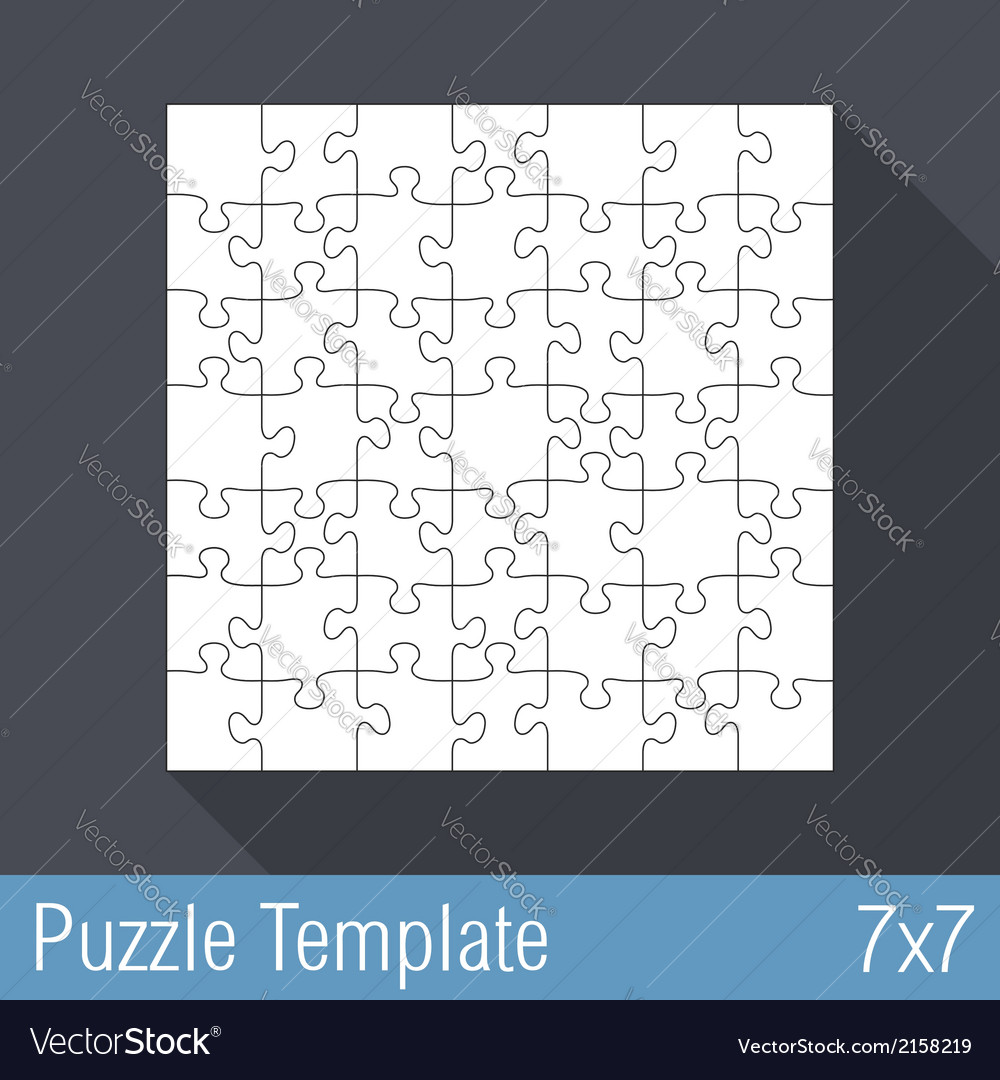 Puzzle template 7x7 vector | Price: 1 Credit (USD $1)