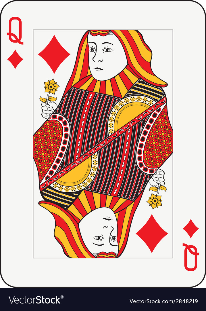 Queen of diamonds vector | Price: 1 Credit (USD $1)