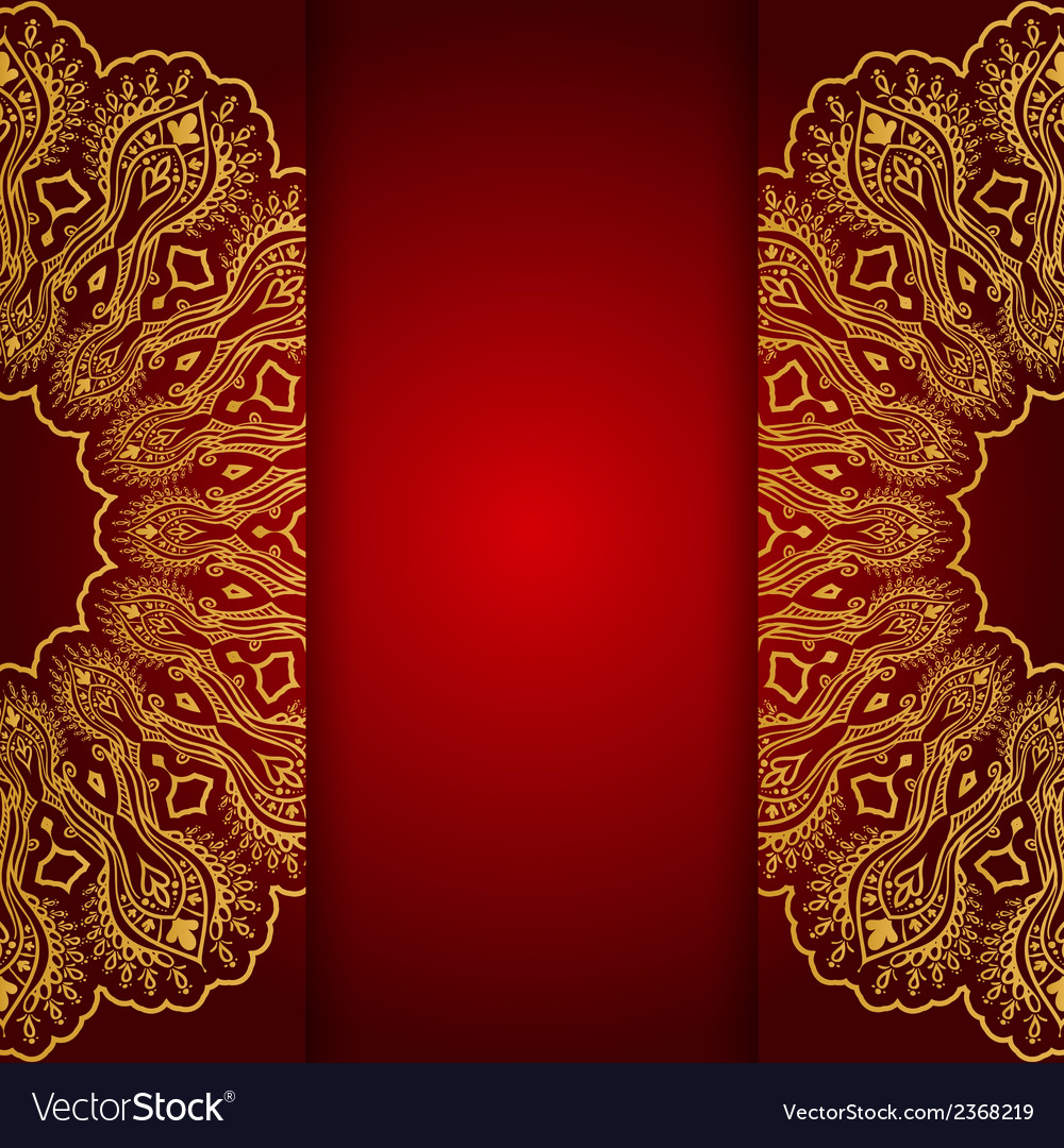 Royal gold ornamental greeting card vector | Price: 1 Credit (USD $1)