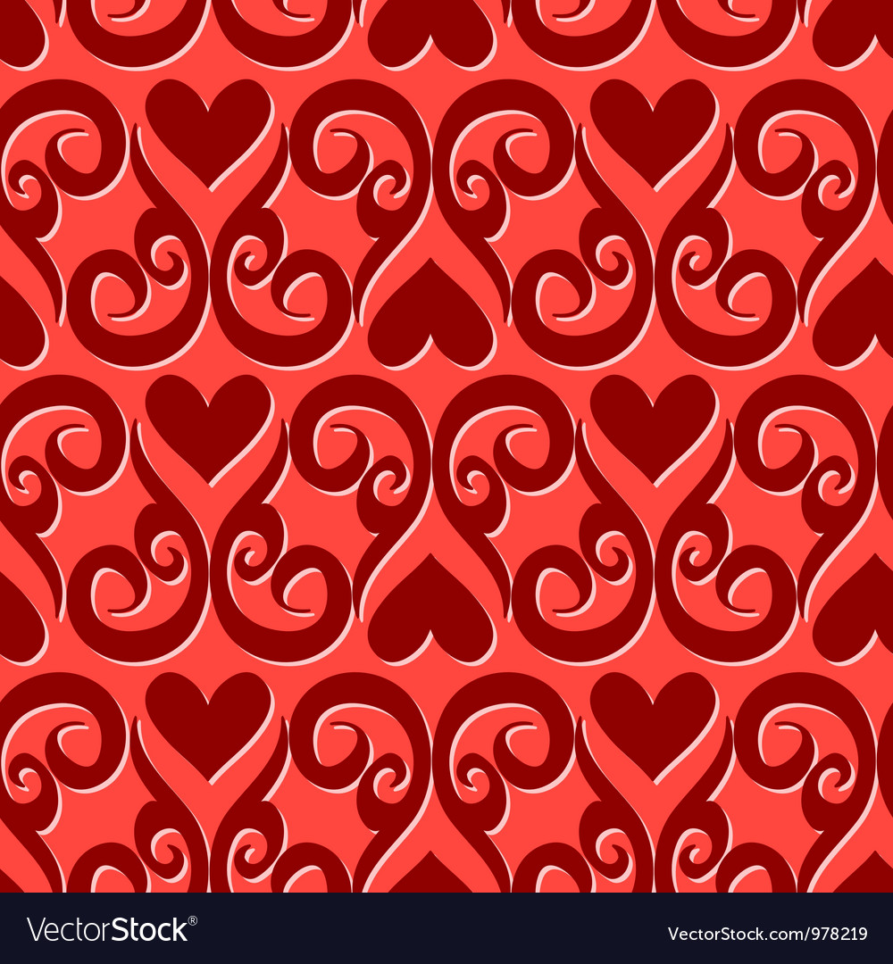 Seamless ornament love pattern vector | Price: 1 Credit (USD $1)