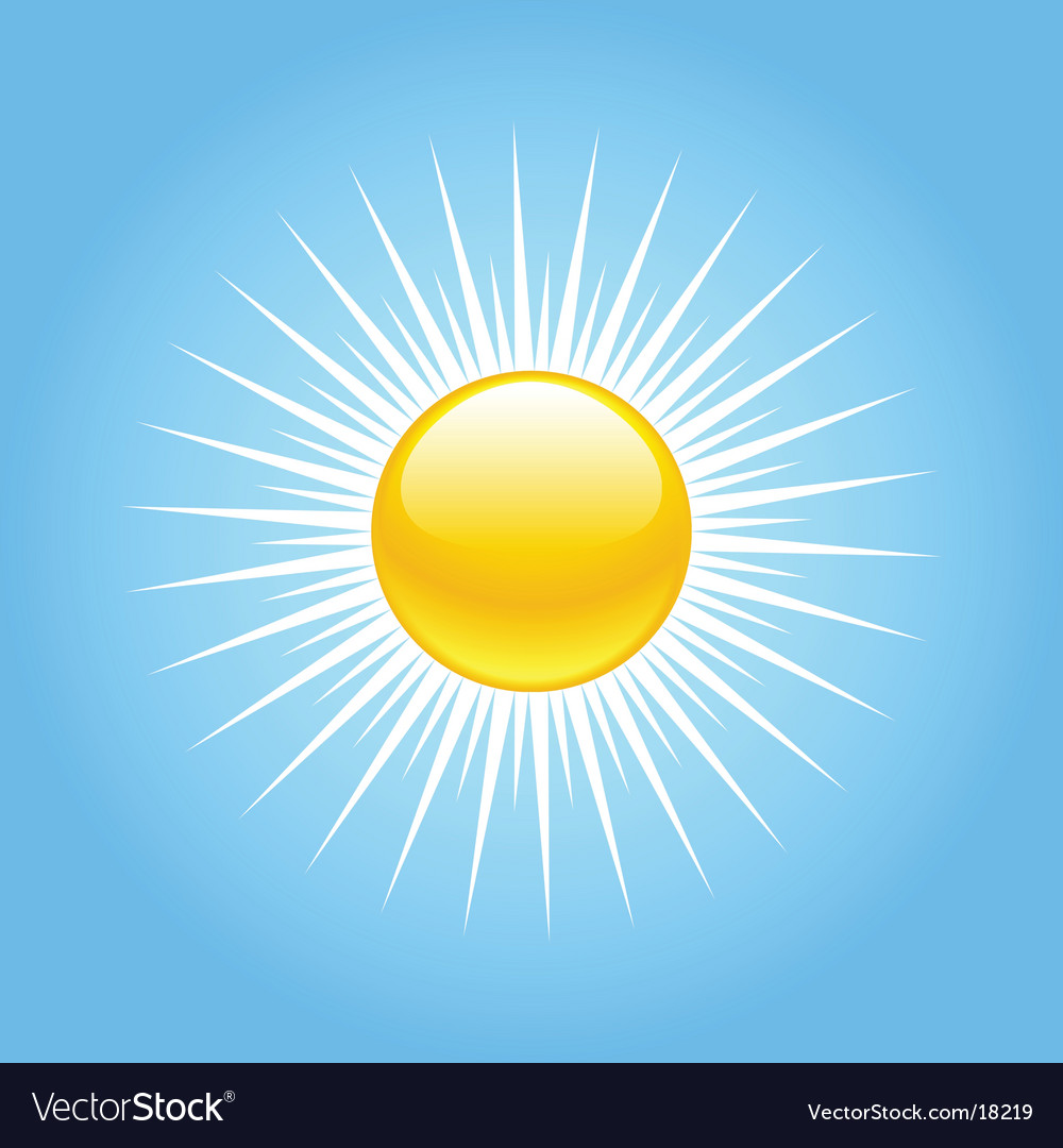 Summer sun rays vector | Price: 1 Credit (USD $1)