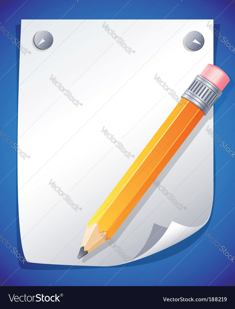 Yellow pencil vector | Price: 3 Credit (USD $3)