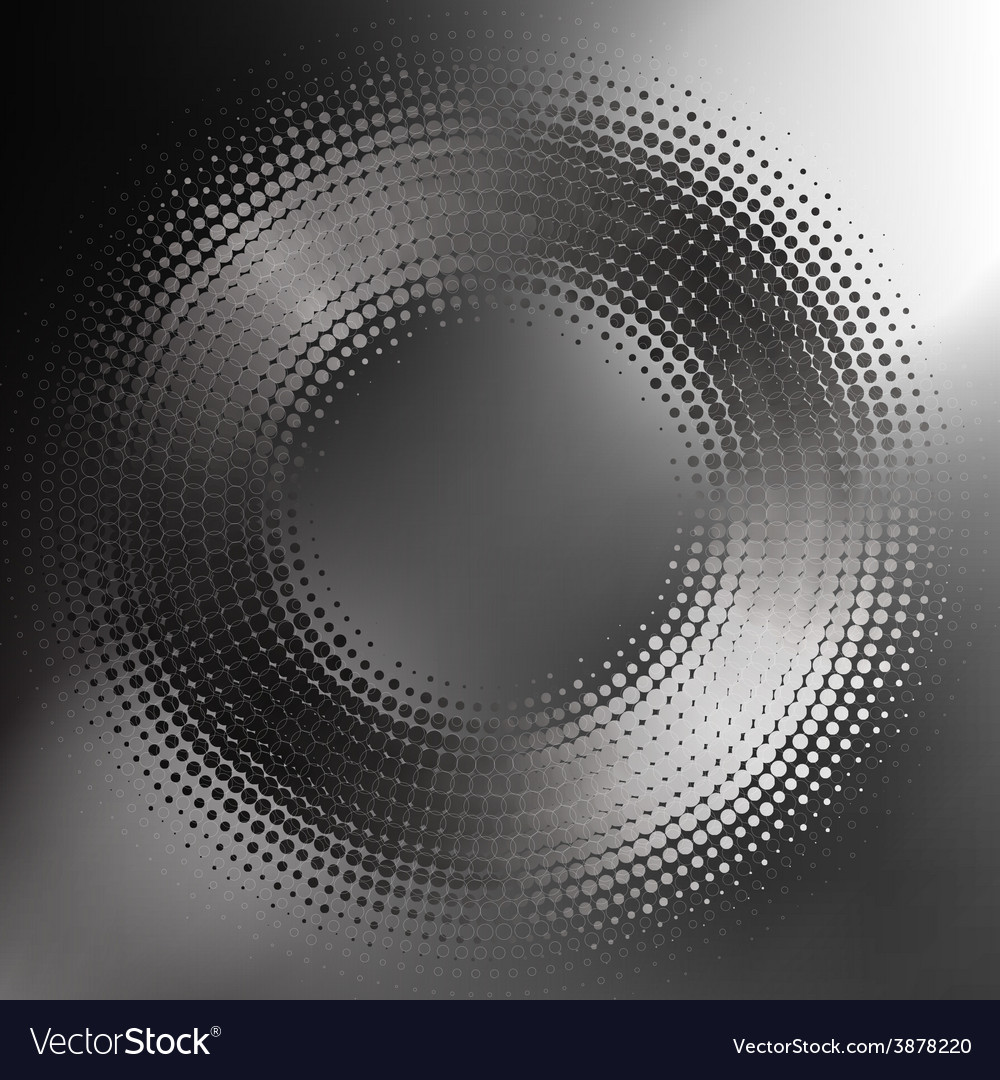 Abstract blackandwhite halftone circle vector