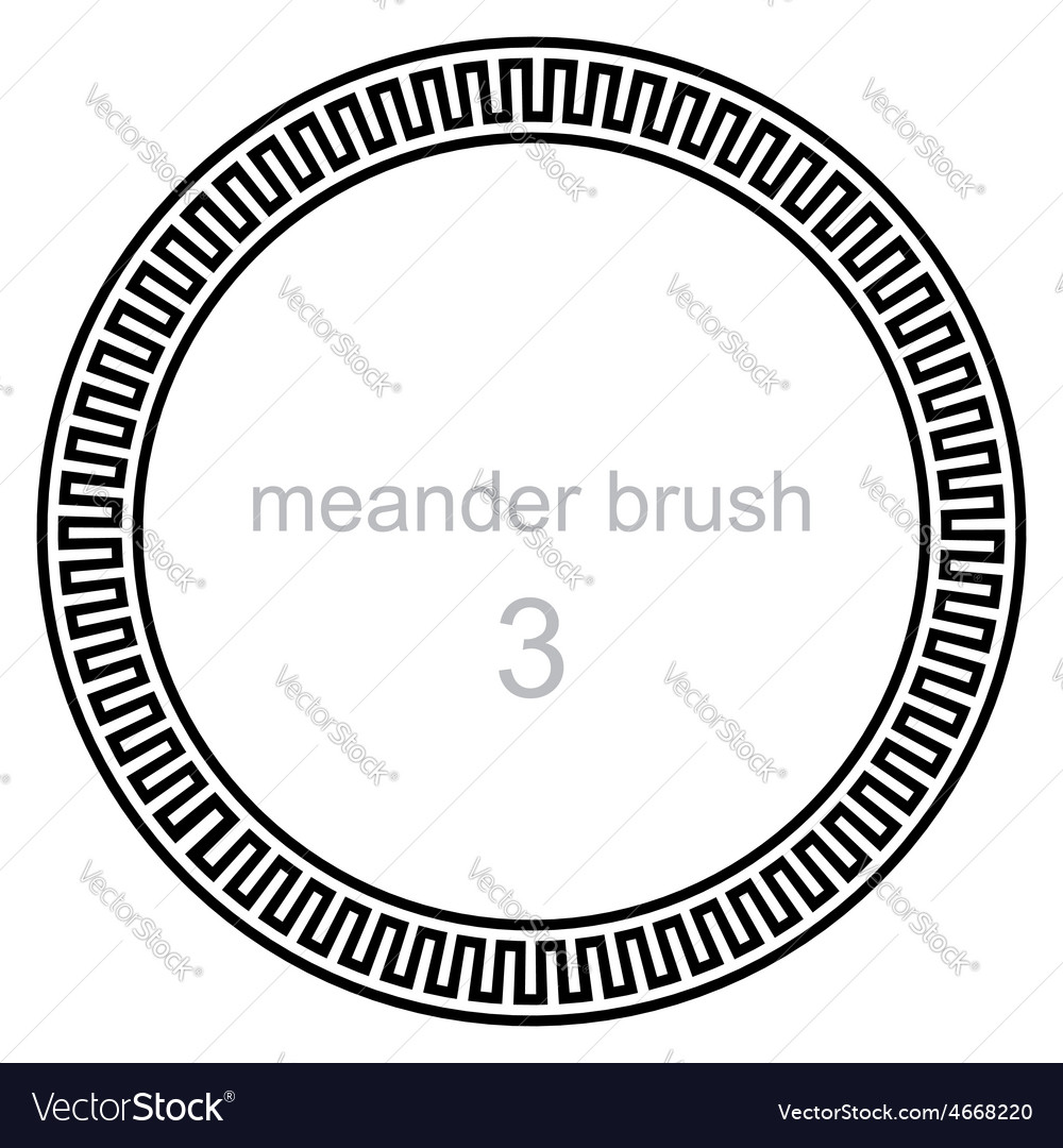 Ancient meander pattern vector
