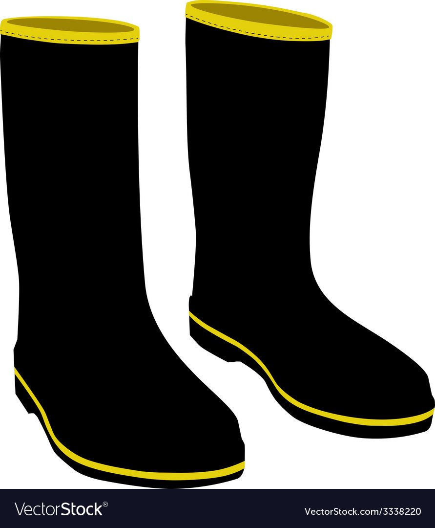 Black rubber boots vector | Price: 1 Credit (USD $1)