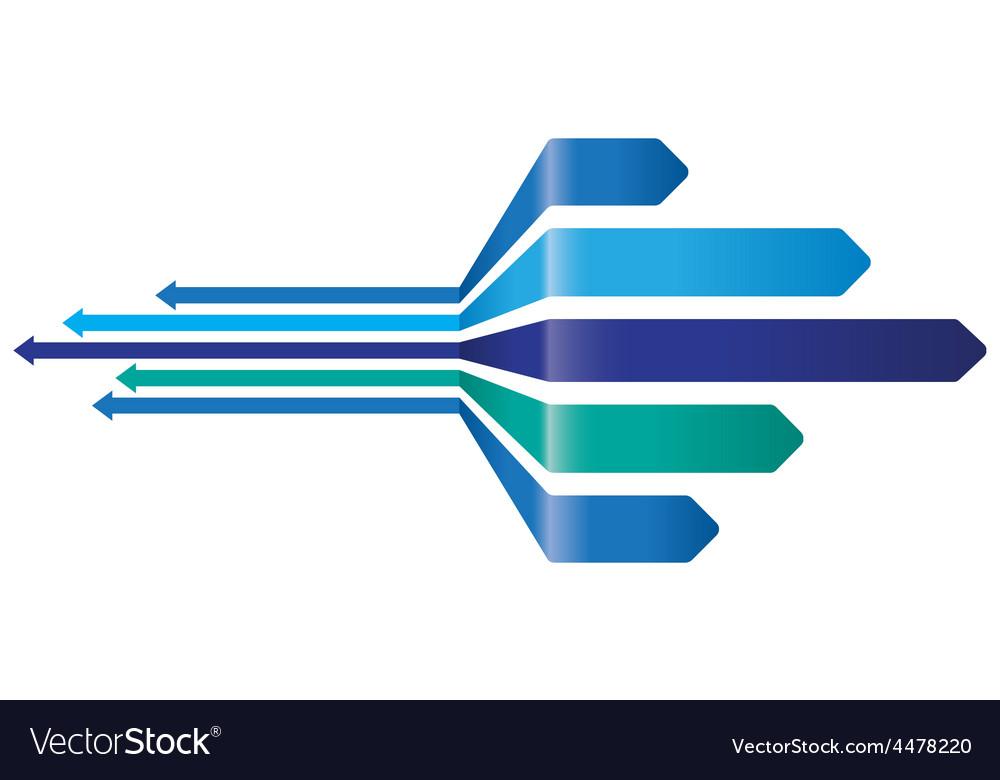 Blue arrow background vector | Price: 1 Credit (USD $1)
