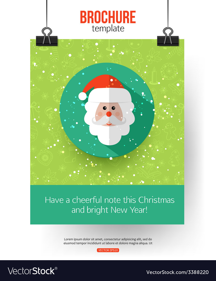 Christmas brochure template abstract typographical vector | Price: 1 Credit (USD $1)