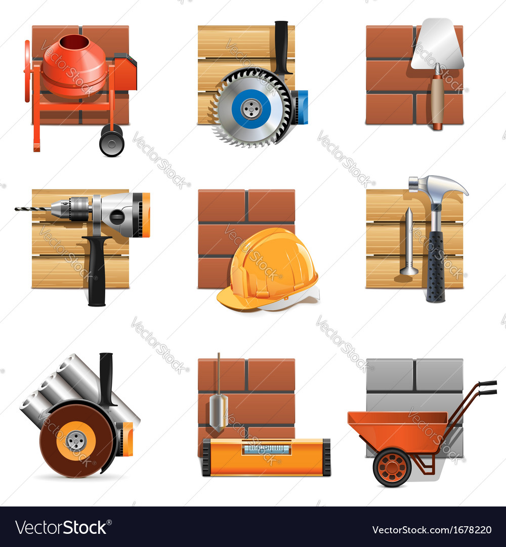 Construction work icons vector | Price: 1 Credit (USD $1)