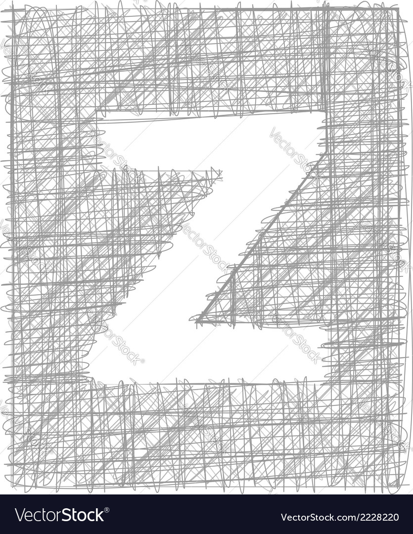 Freehand typography letter z vector | Price: 1 Credit (USD $1)