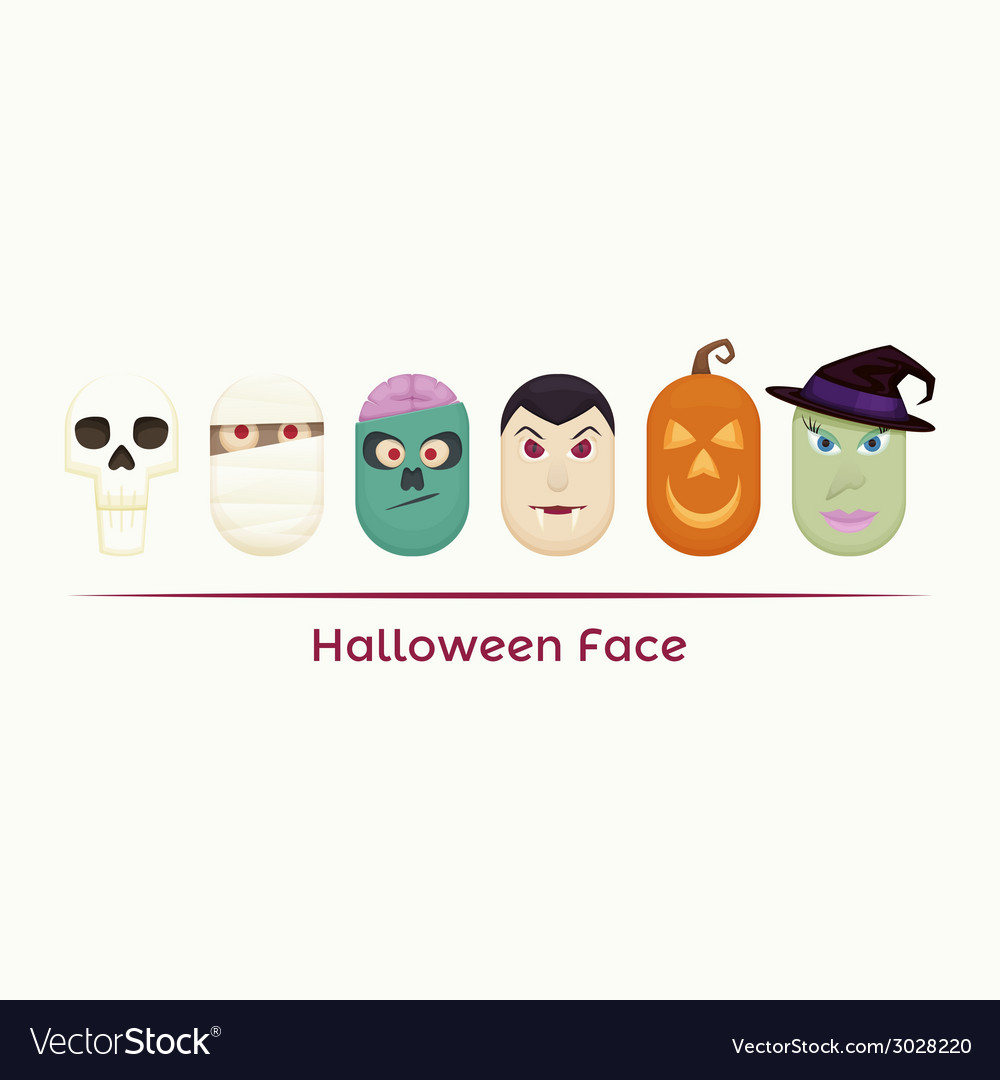 Halloween face vector