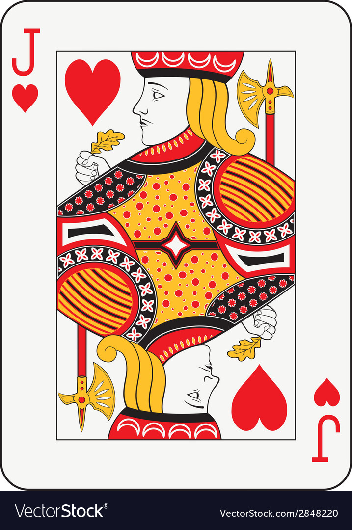 Jack of hearts vector | Price: 1 Credit (USD $1)