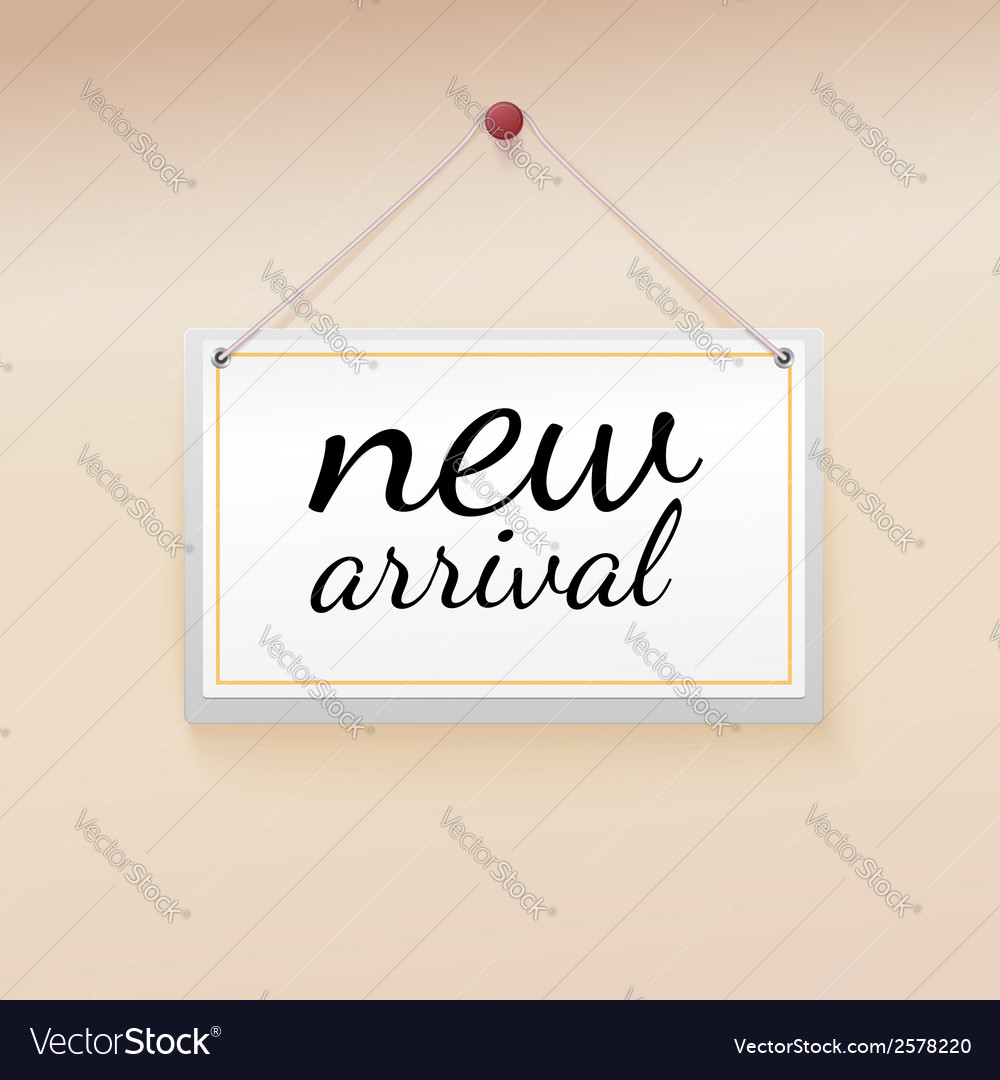 New arrival tag vector | Price: 1 Credit (USD $1)