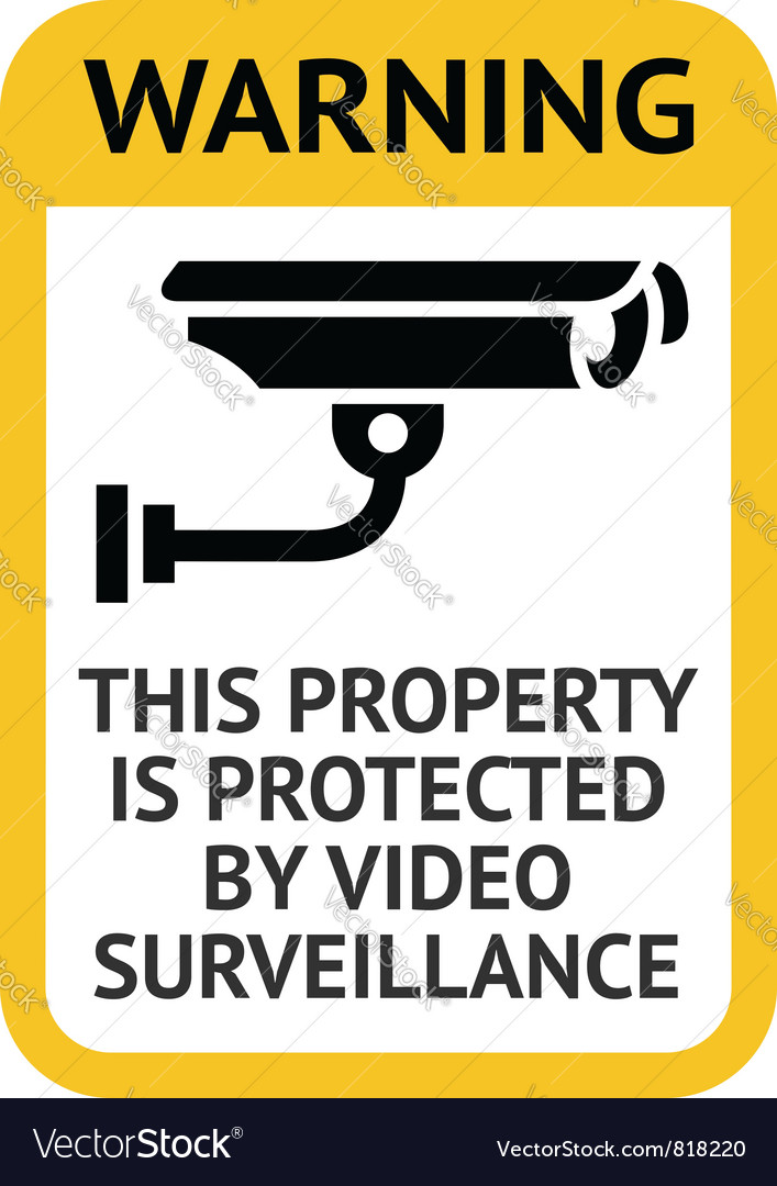Notice video surveillance vector | Price: 1 Credit (USD $1)