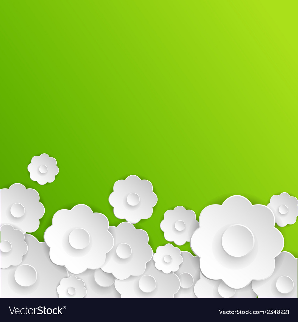 Abstract paper flowers vector | Price: 1 Credit (USD $1)
