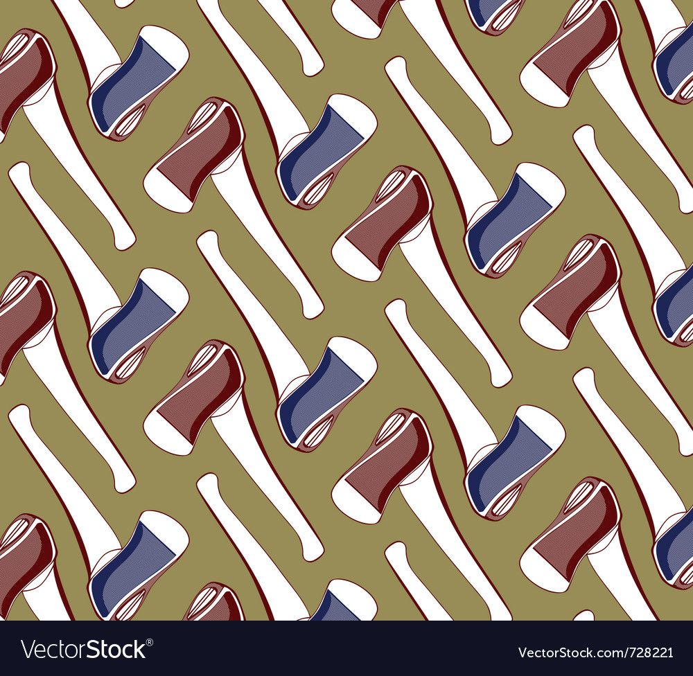 Axe tool background pattern vector | Price: 1 Credit (USD $1)