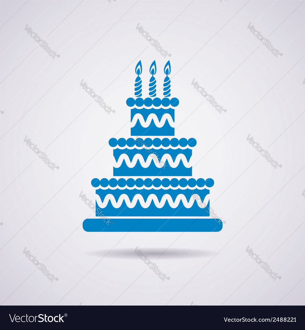 Birthday cake icon vector | Price: 3 Credit (USD $3)