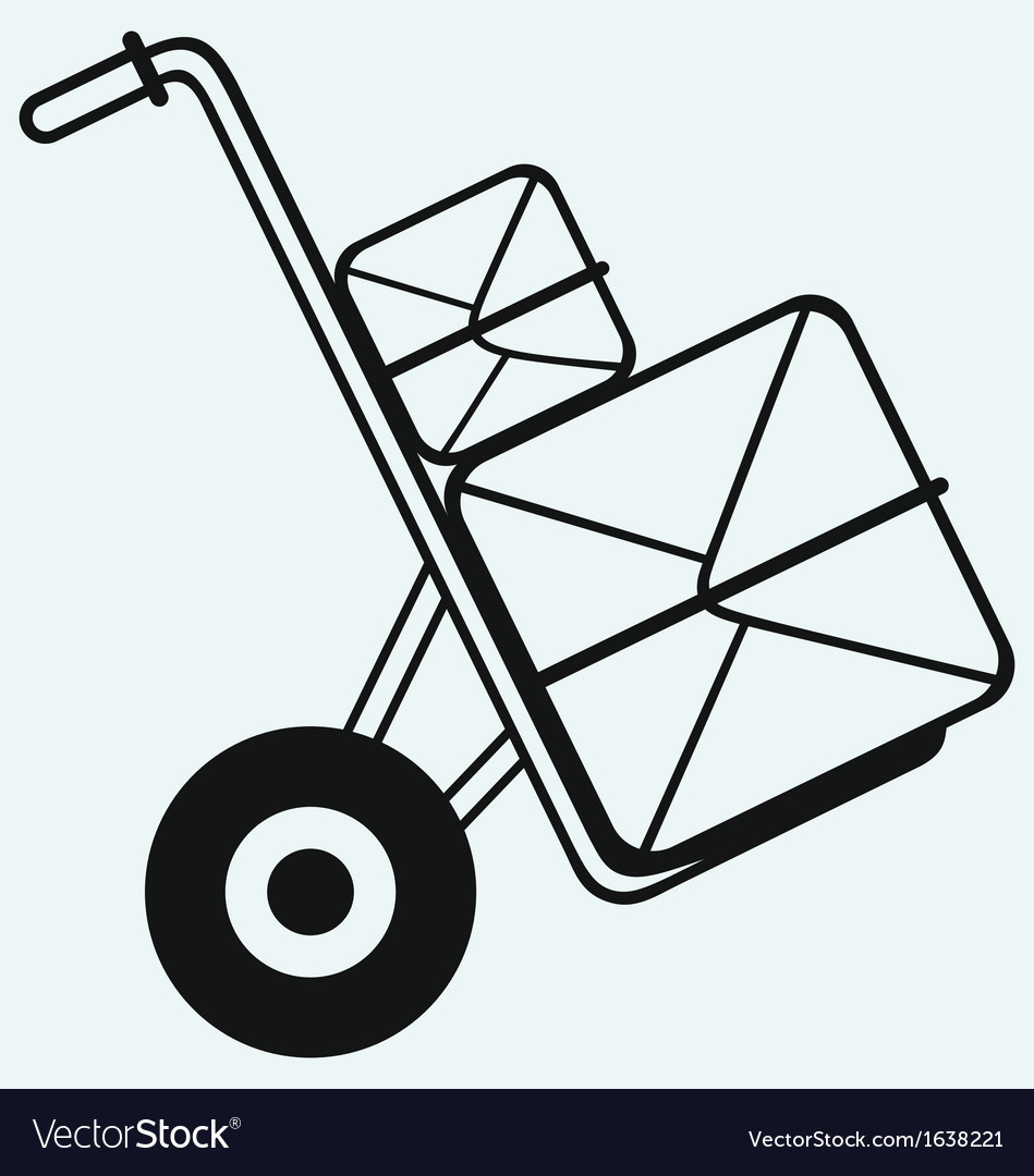 Box on sack truck vector | Price: 1 Credit (USD $1)