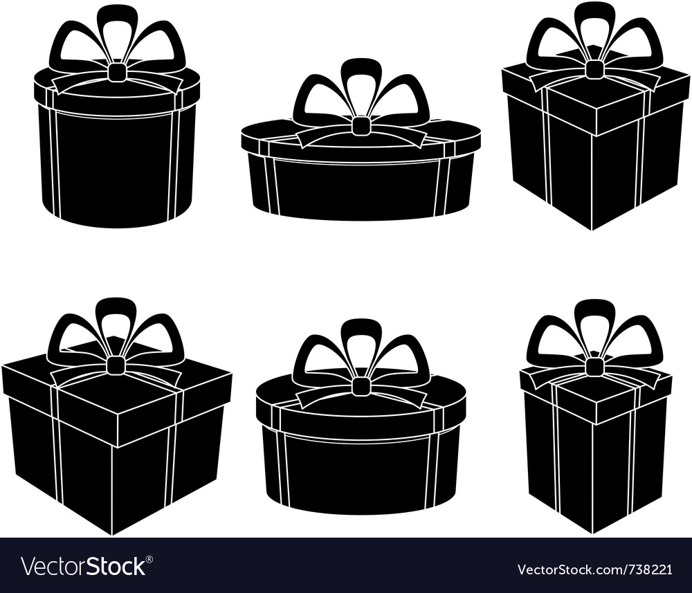 Boxes black silhouettes vector | Price: 1 Credit (USD $1)