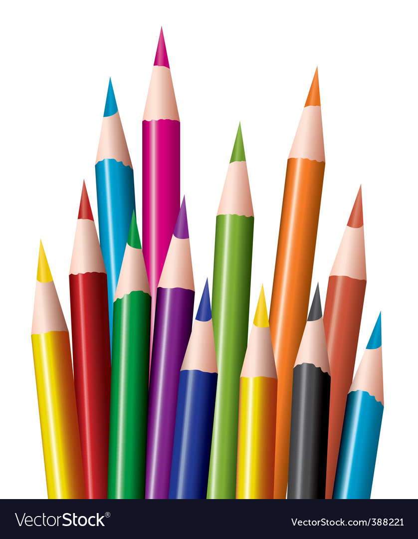 Coloring in pencils vector | Price: 1 Credit (USD $1)