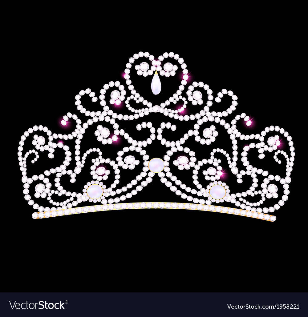 Feminine wedding diadem vector | Price: 1 Credit (USD $1)