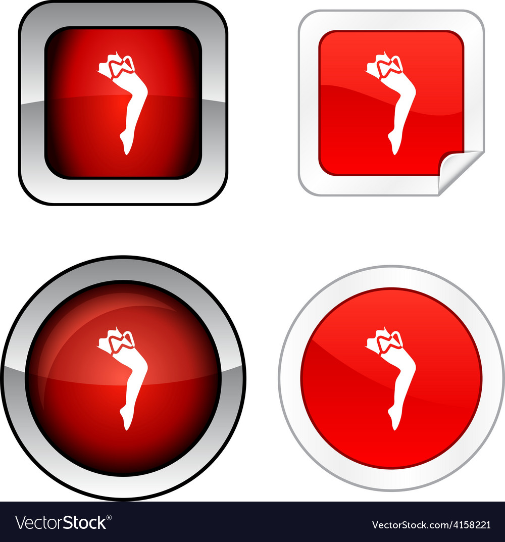 Leg button set vector | Price: 1 Credit (USD $1)
