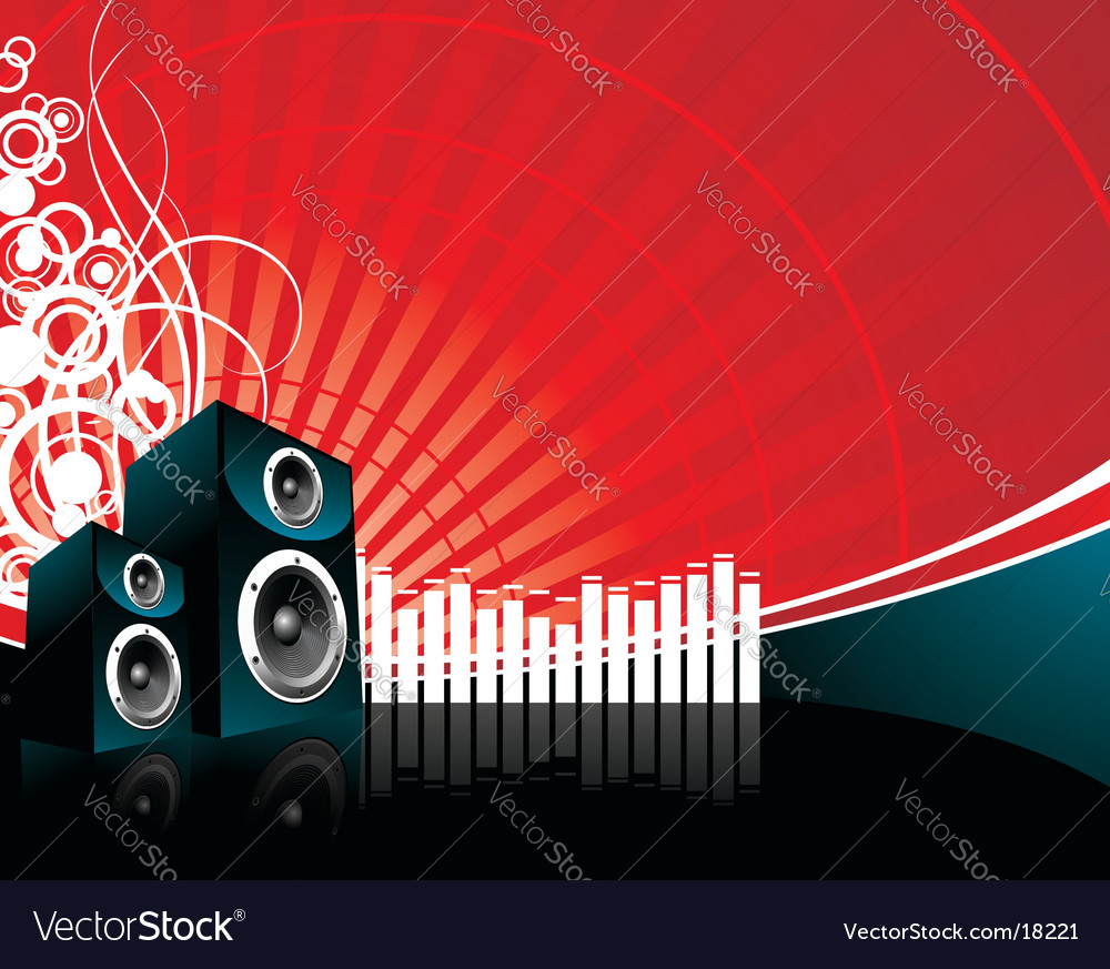 Music speaker vector | Price: 1 Credit (USD $1)