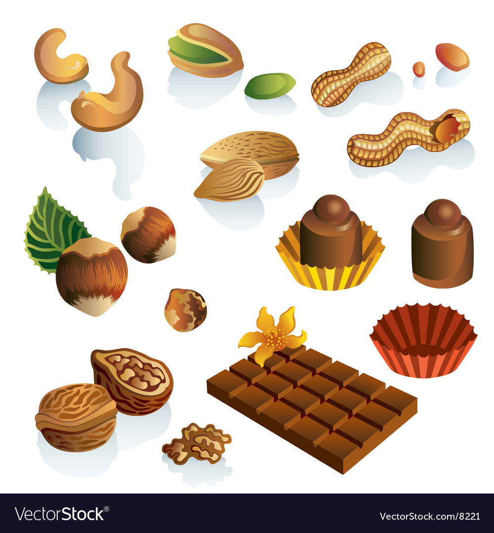 Nuts and sweets vector | Price: 3 Credit (USD $3)