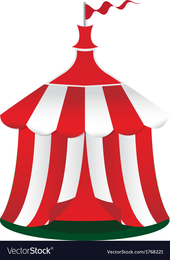 Red circus tent icon vector | Price: 1 Credit (USD $1)