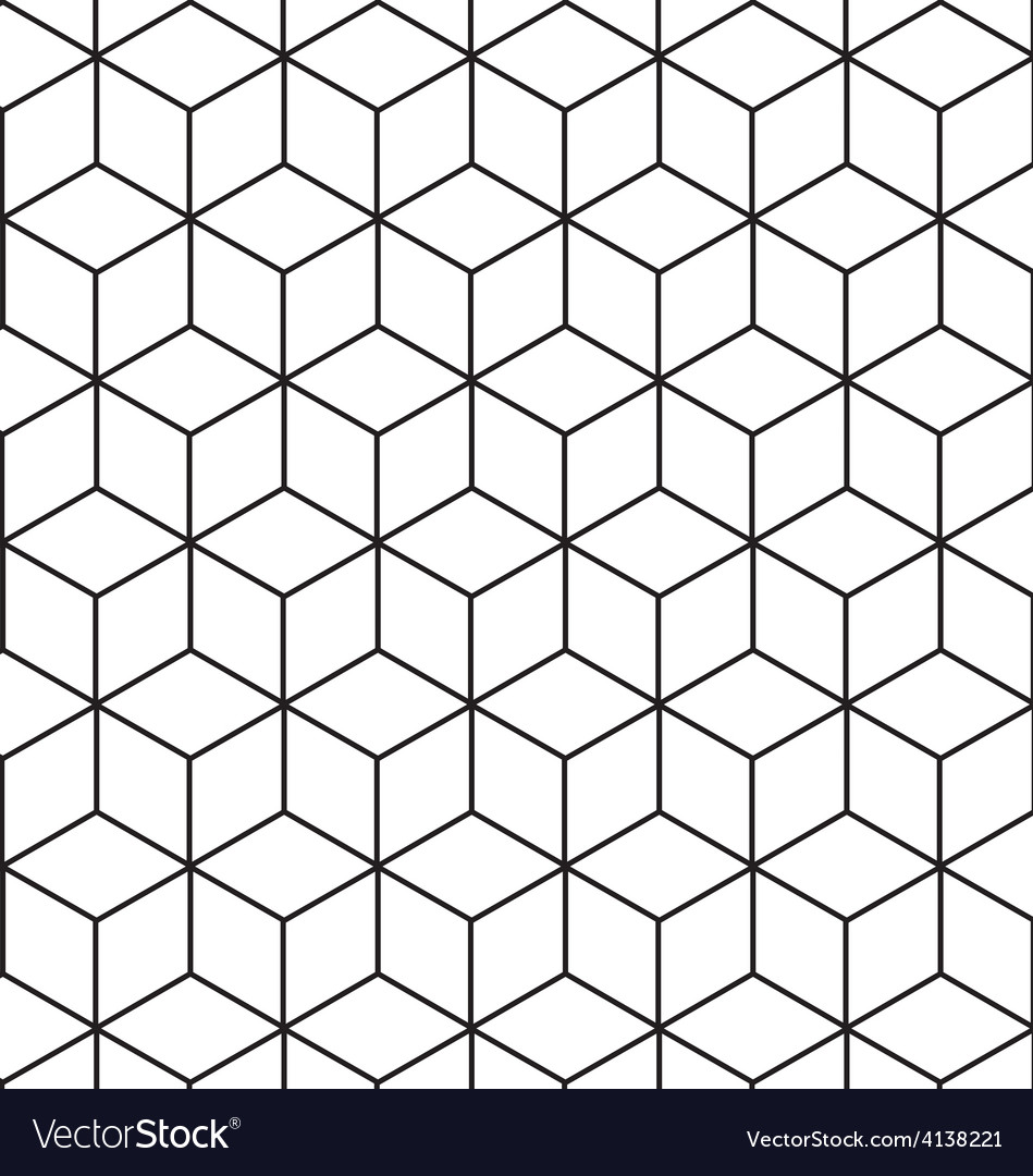Seamless geometric pattern background design vector | Price: 1 Credit (USD $1)
