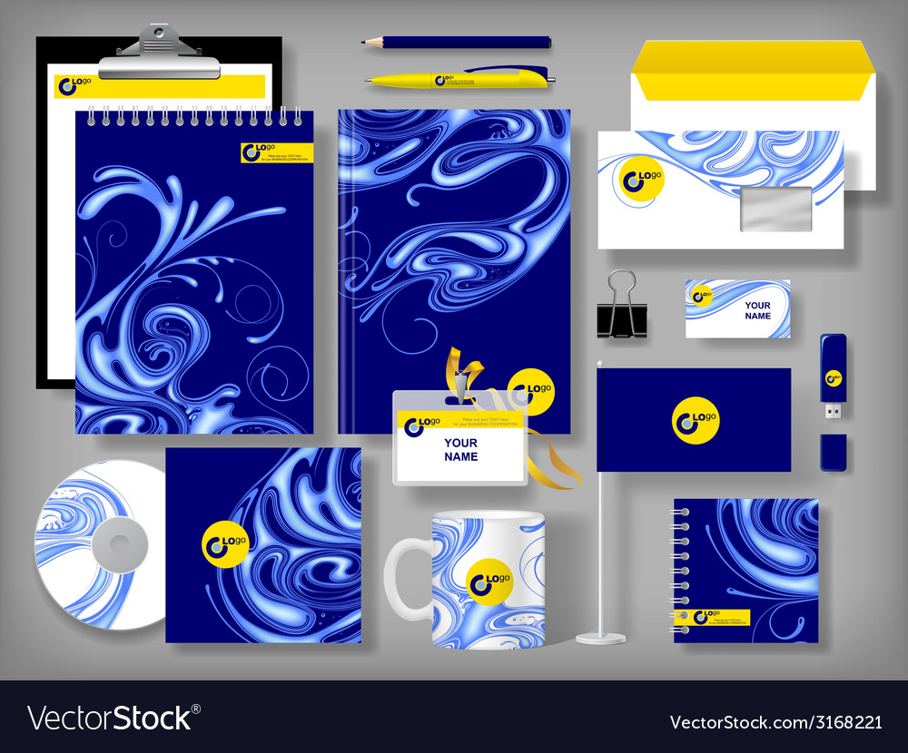 Selected corporate templates vector | Price: 1 Credit (USD $1)