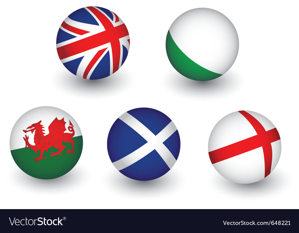 United kingdom flag set vector | Price: 1 Credit (USD $1)