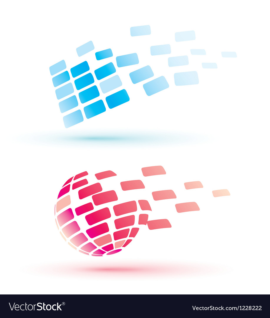 Abstract globe icons business and comunication con vector | Price: 1 Credit (USD $1)
