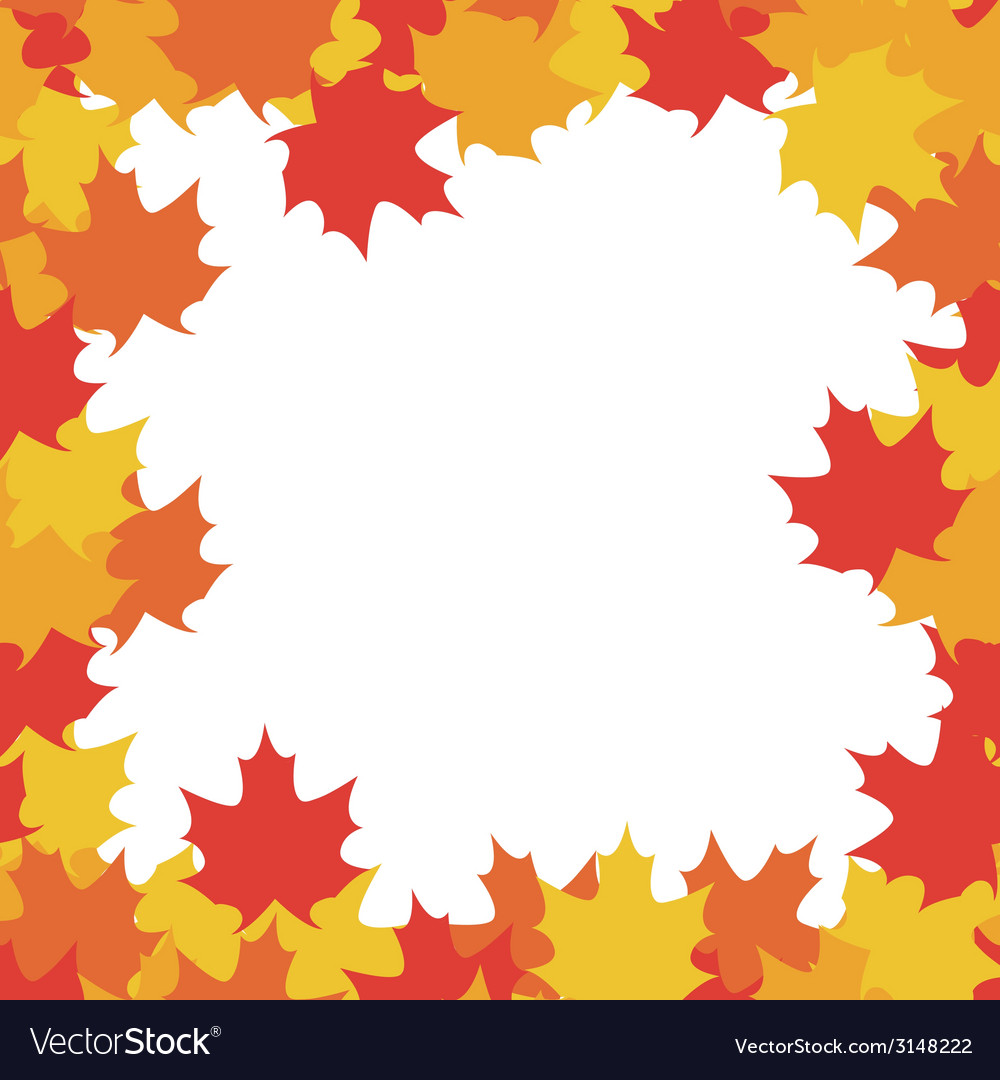 Autumn frame - vector | Price: 1 Credit (USD $1)