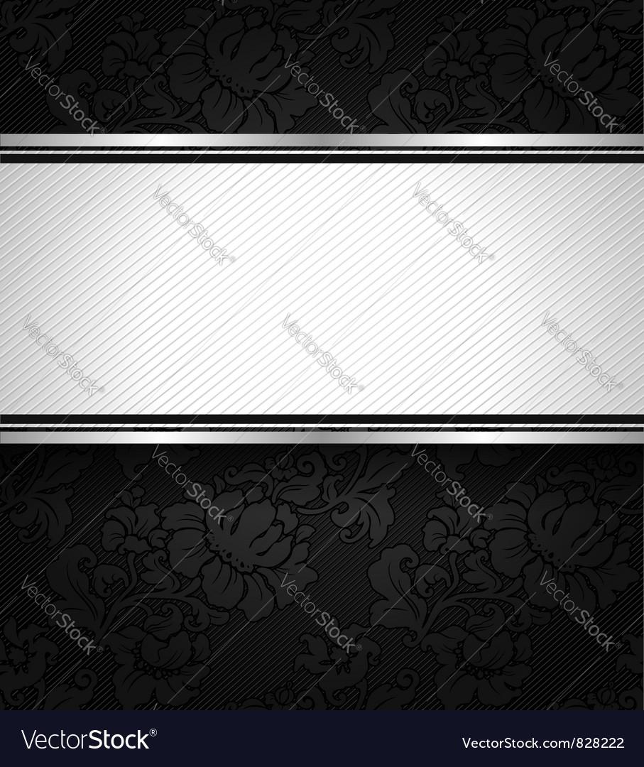 Background black ornamental fabric texture vector | Price: 1 Credit (USD $1)
